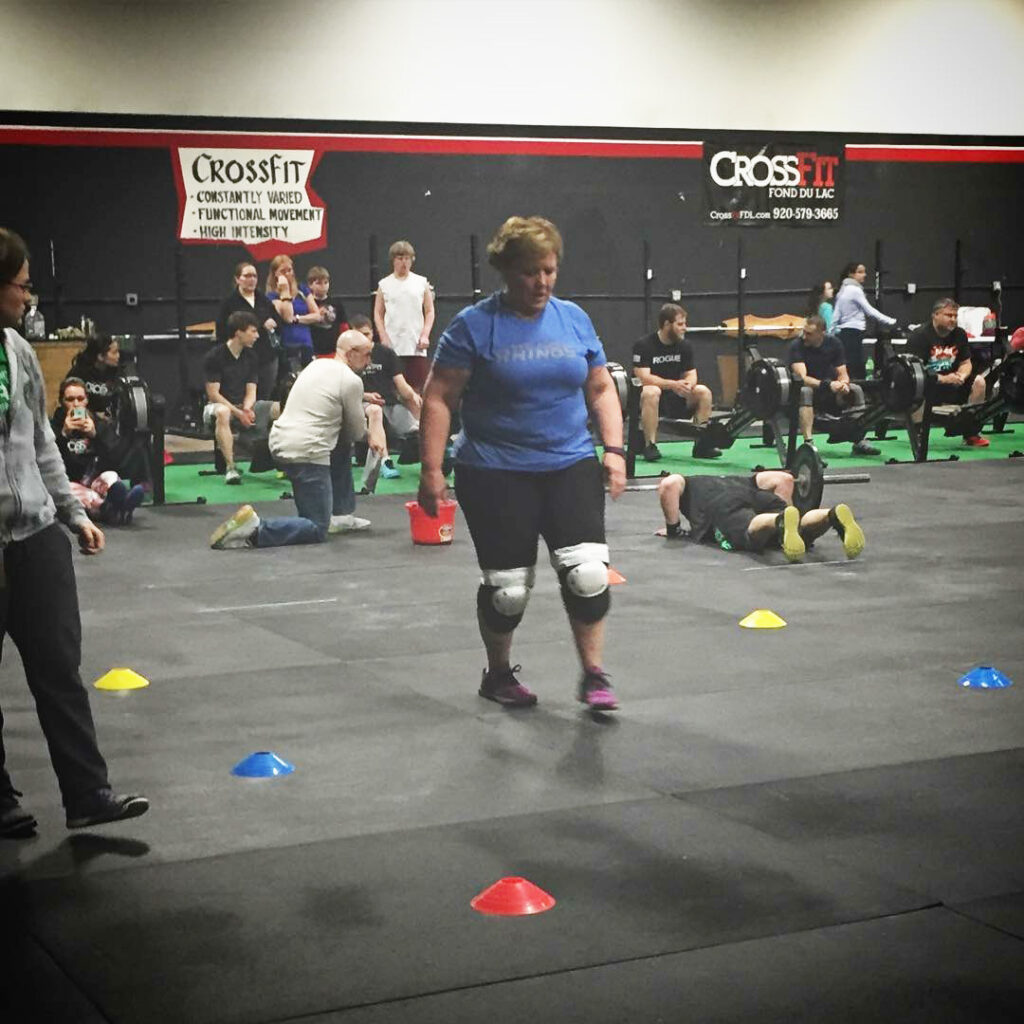 Nick Bloch's mom completing 16.1