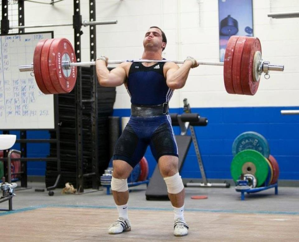 Michael Nackoul 185 clean and jerk