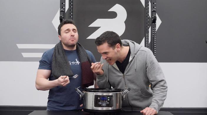 boys enjoying the crockpot
