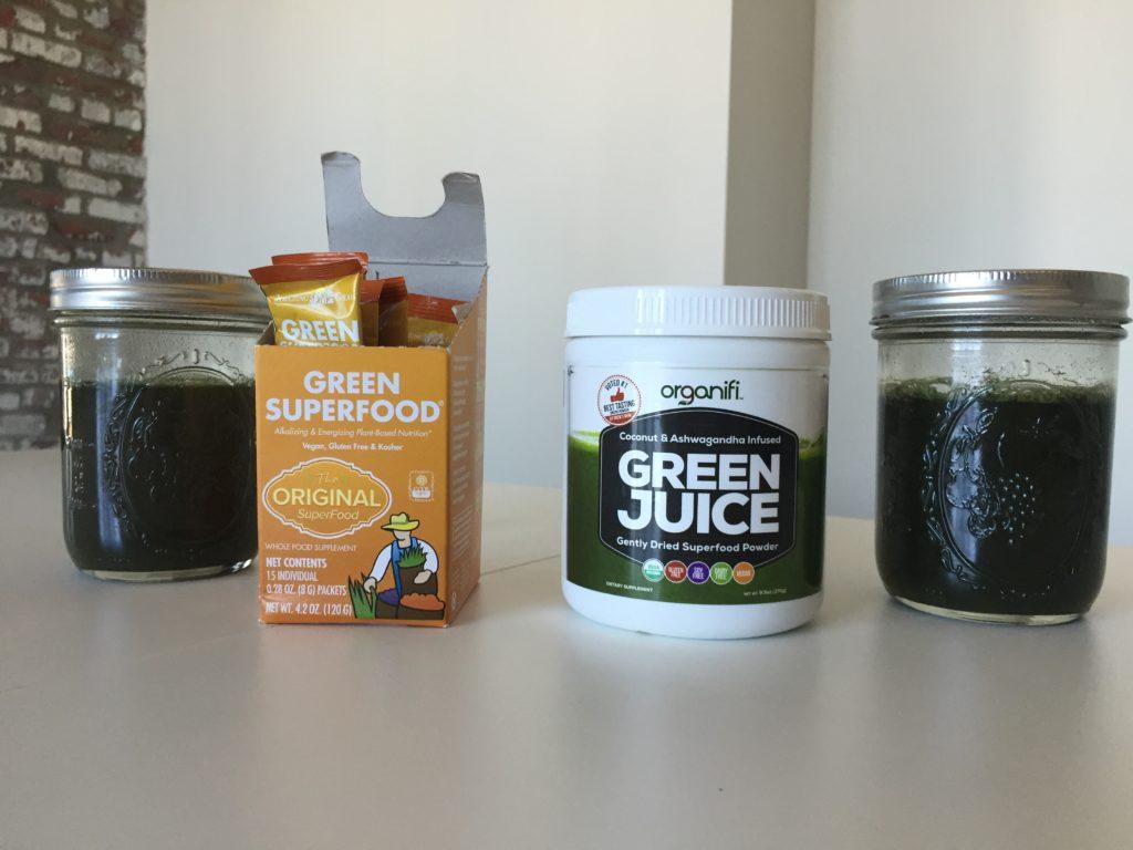Amazing Grass Versus Organifi Green Juice