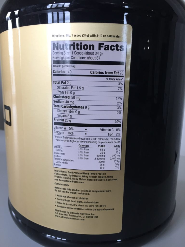 Ultimate Nutrition Whey Gold Label