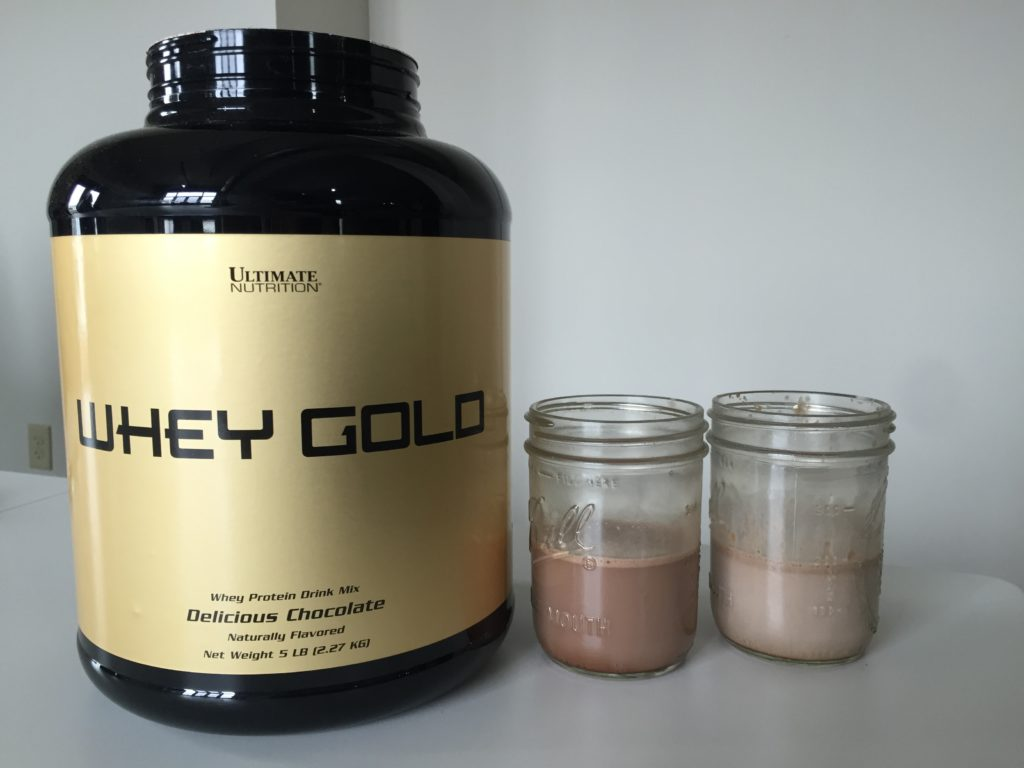 Ultimate Nutrition Whey Gold Ingredients