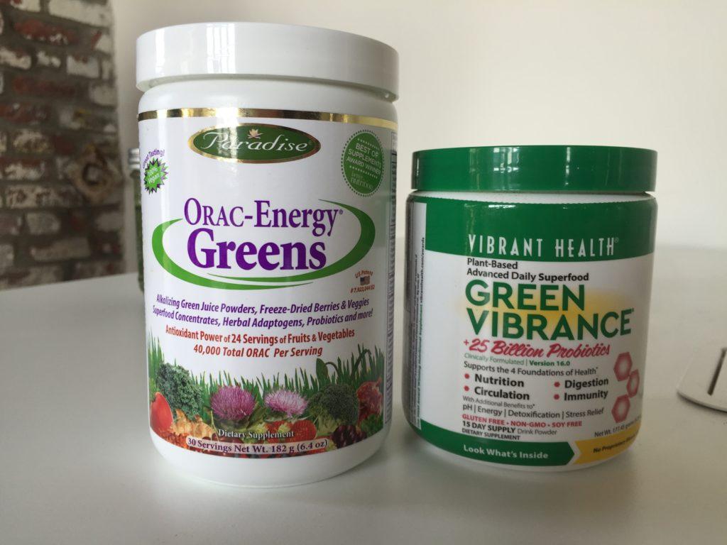 ORAC-Energy Greens vs. Green Vibrance Ingredients