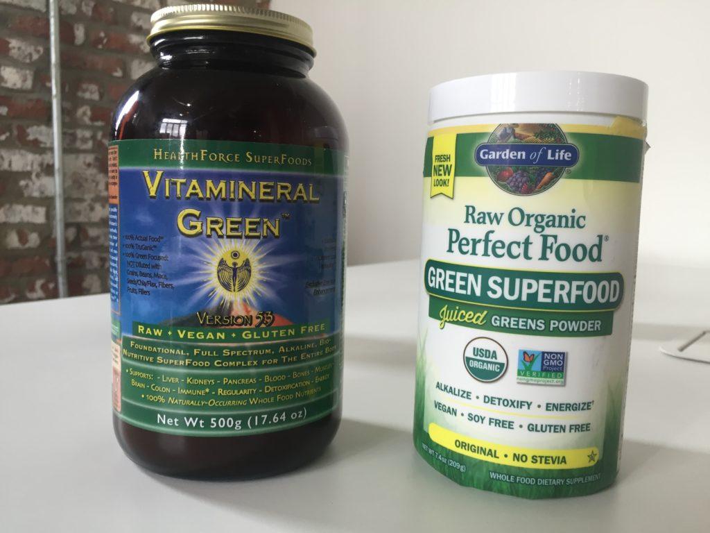 Vitamineral Green Versus Perfect Food