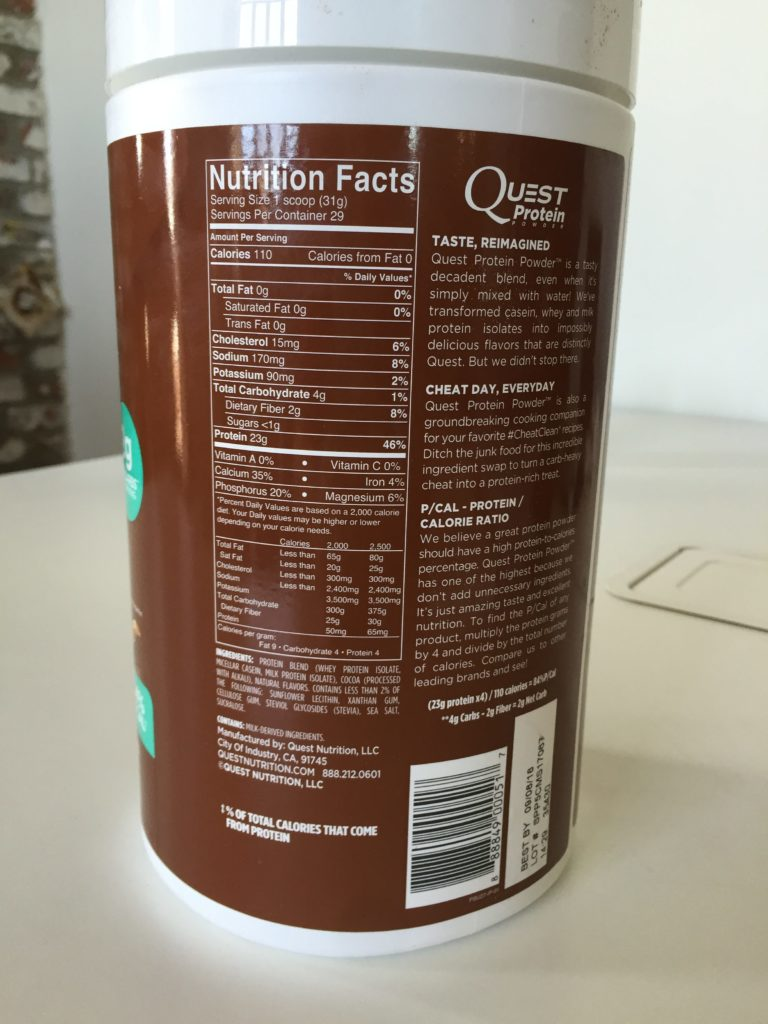 Quest Protein Powder Nutrition Facts