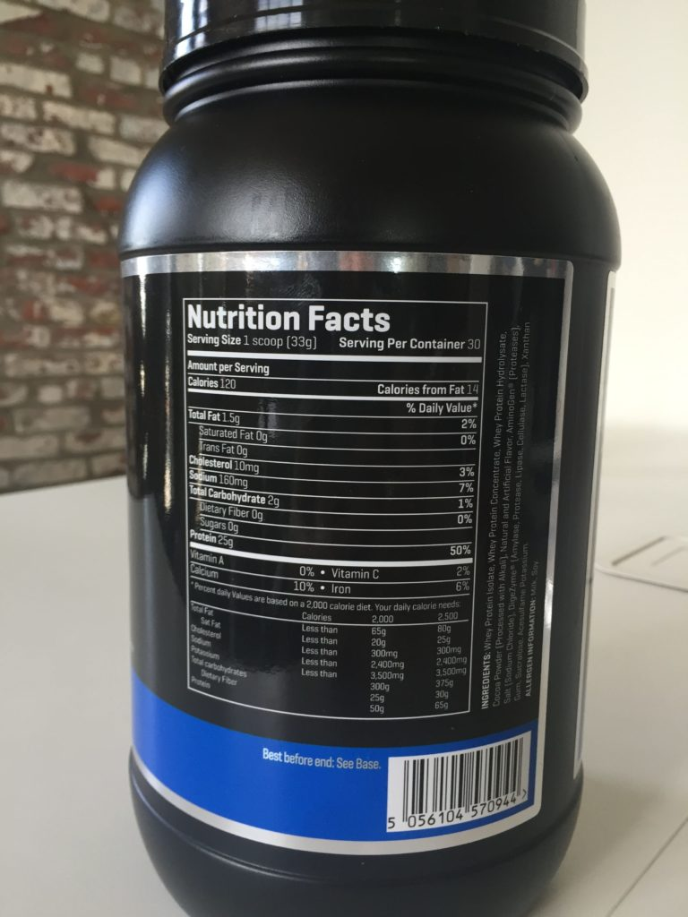 MyProtein TheWhey Nutrition