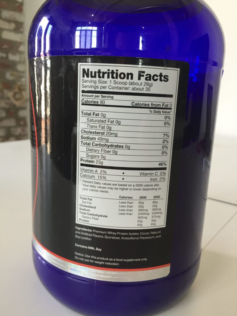 Ultimate Nutrition IsoCool Ingredients