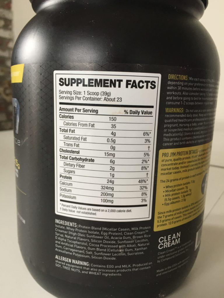 Pro Jym Protein Nutrition
