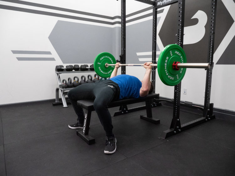 Bench Press Exercise Guide - Pull Elbows to the Floor