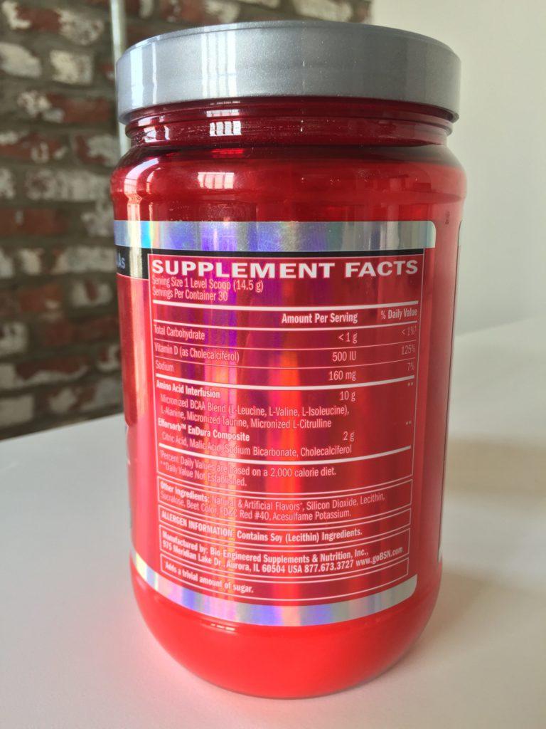 BSN AMINOx Ingredients