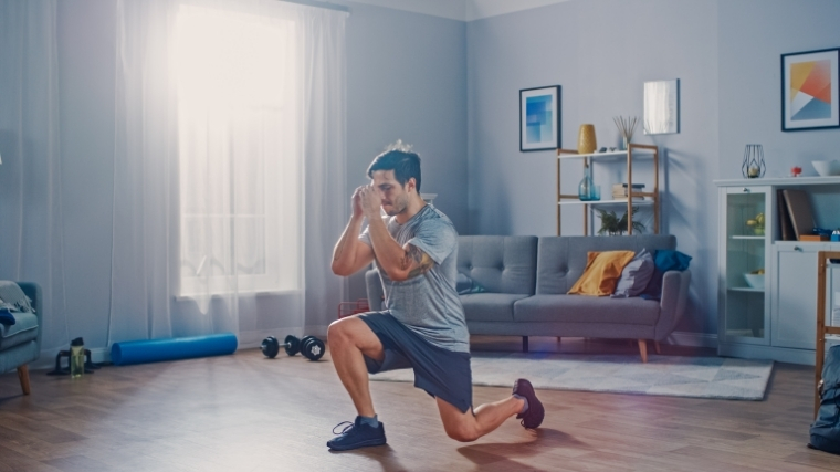 Man doing lunge