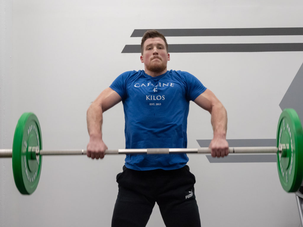 Hang Clean Exercise Guide - Extend Up
