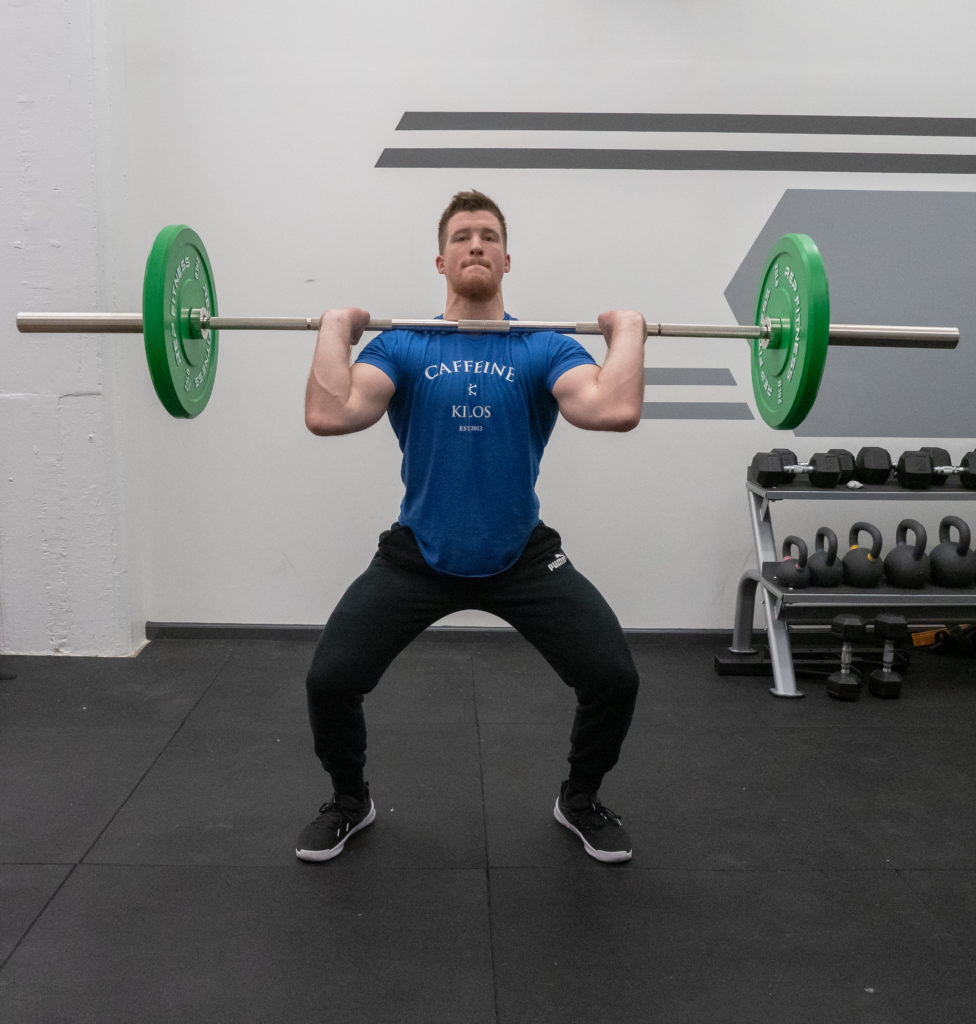 Hang Clean Exercise Guide - Receive Barbell
