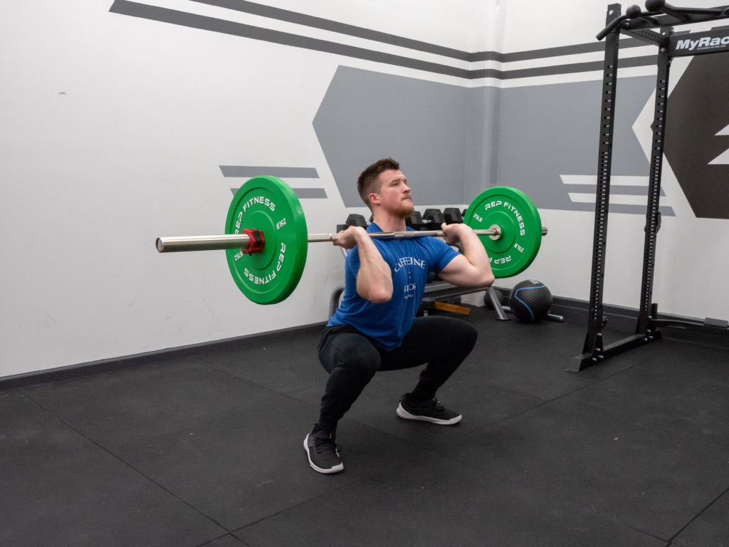 Hang Clean Exercise Guide - Squat Down