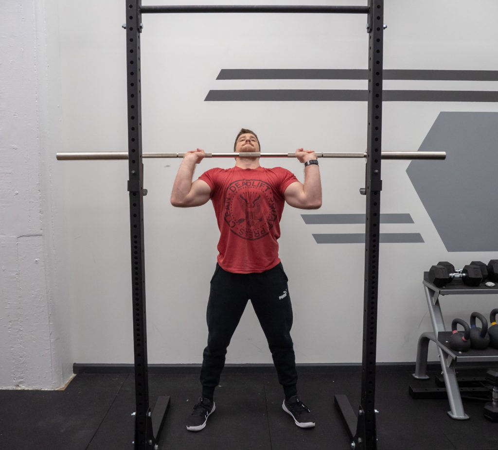 Push Press Exercise Guide - Aggressive Drive Up