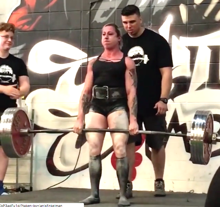 Janis Finkelman's New World Record Deadlift: 225kg at 60kg