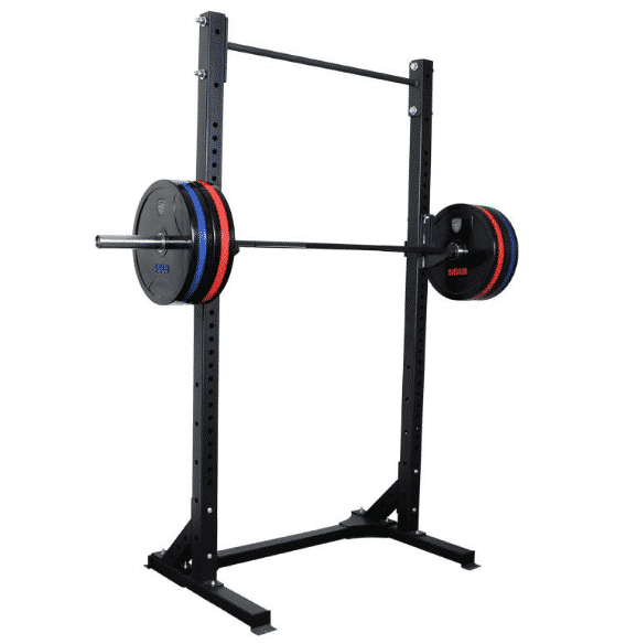 Squat rack home gym.