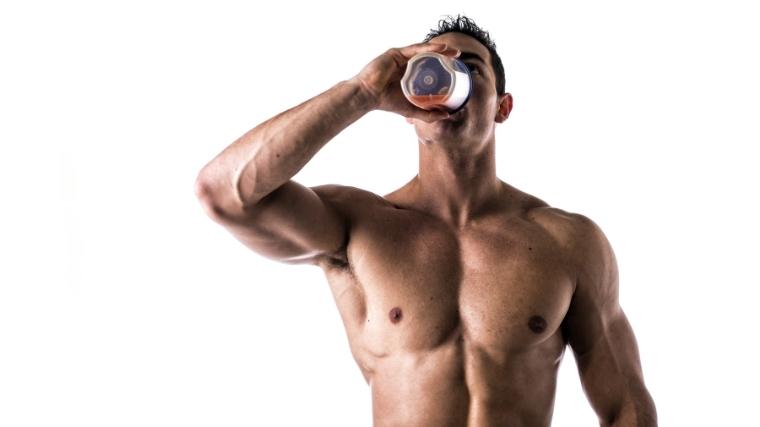 man drinking bcaa shake