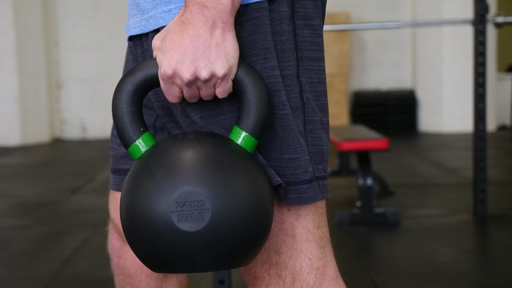 Rogue Fitness Rubber Coated Kettlebell Back