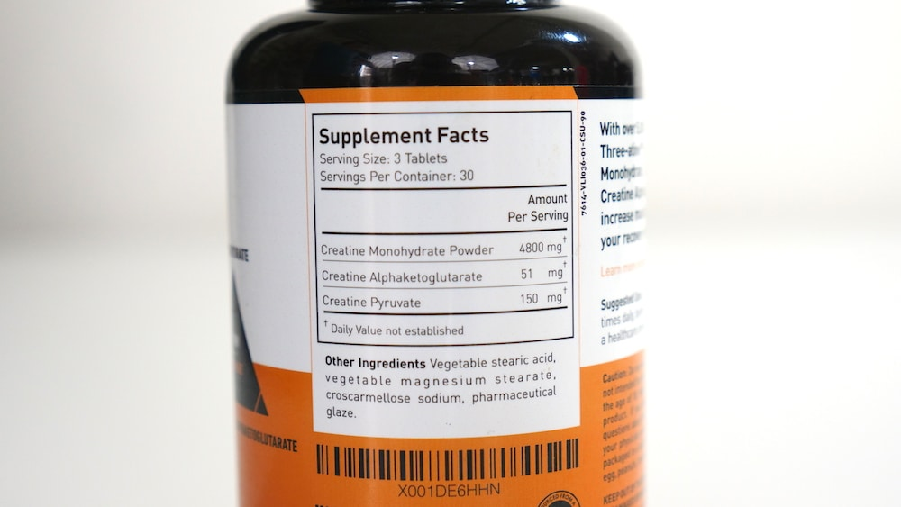 Crazy Muscle Three-Atine Ingredients