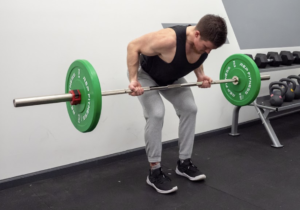 Barbell Row - Finish and Descend