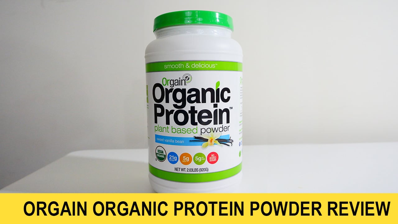 Orgain protein powder for muscle gain