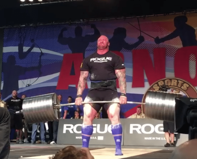 Hafthor Bjornsson Deadlifts A 472kg Elephant Bar Deadlift