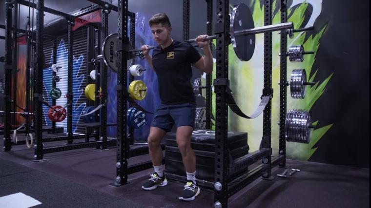 Box squat set up