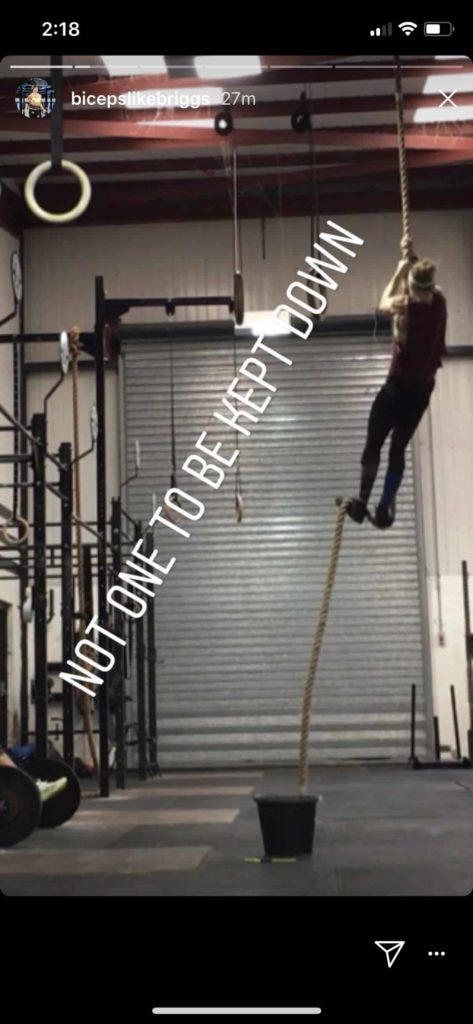 Sam Briggs Climbs a Rope