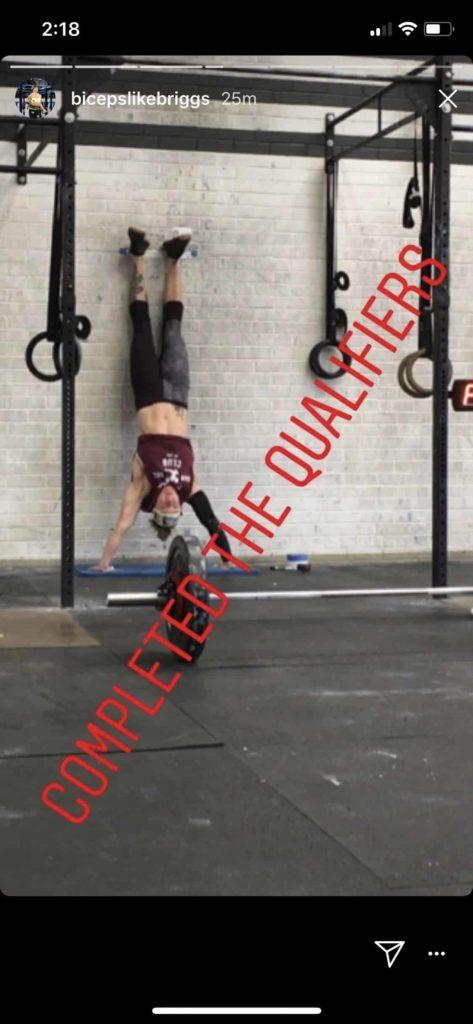 Sam Briggs Handstand Push-ups