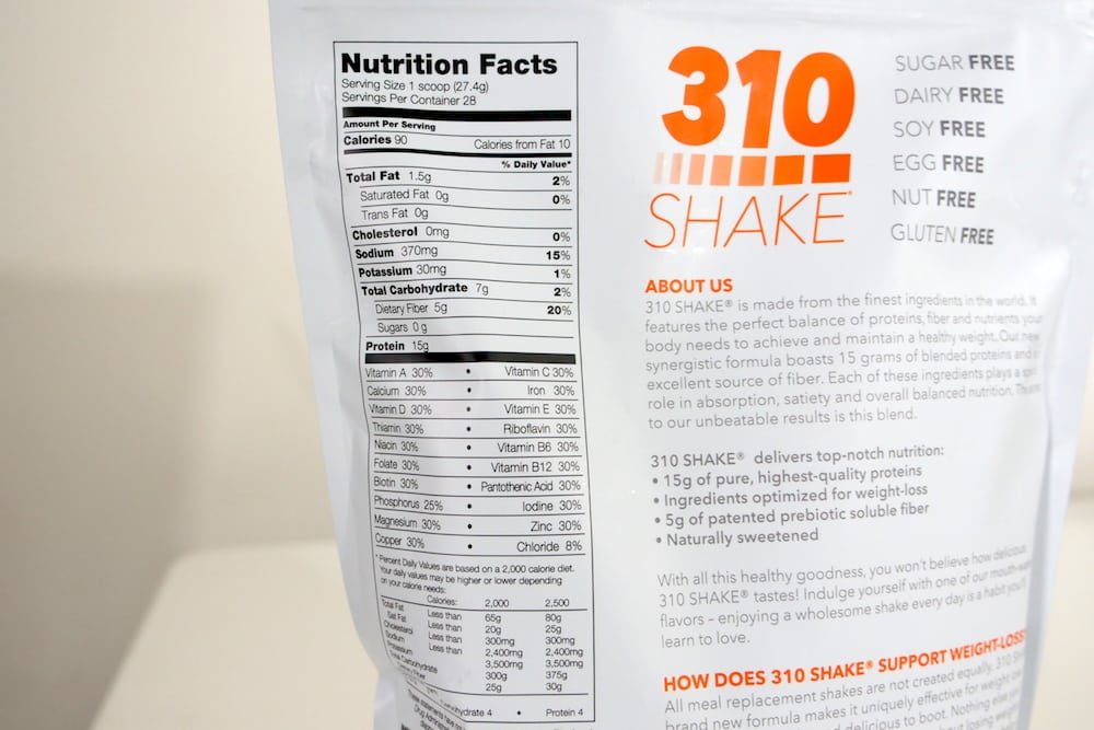310 Meal Replacement Shake Nutrition