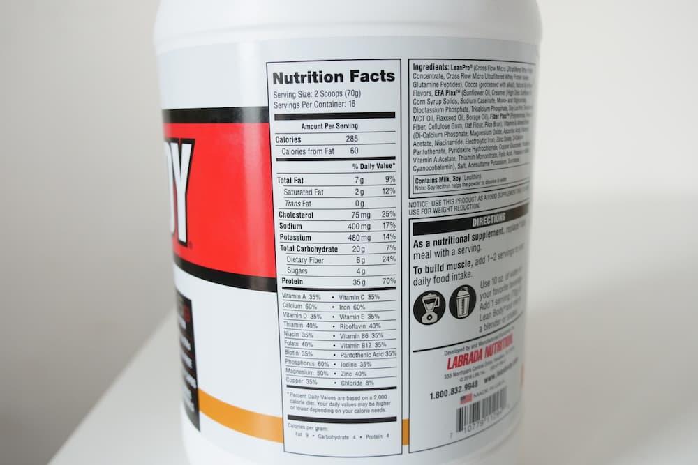 Labrada Nutrition Lean Body Nutrition