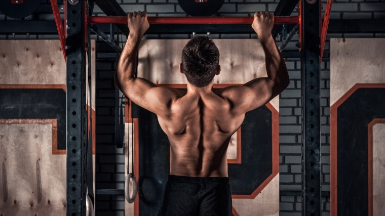 man performing pull-up