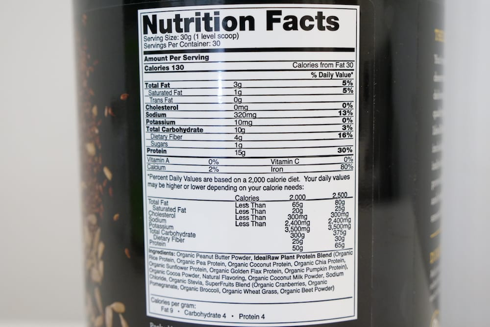 P1499013Ideal Raw Organic Protein Shake Nutrition