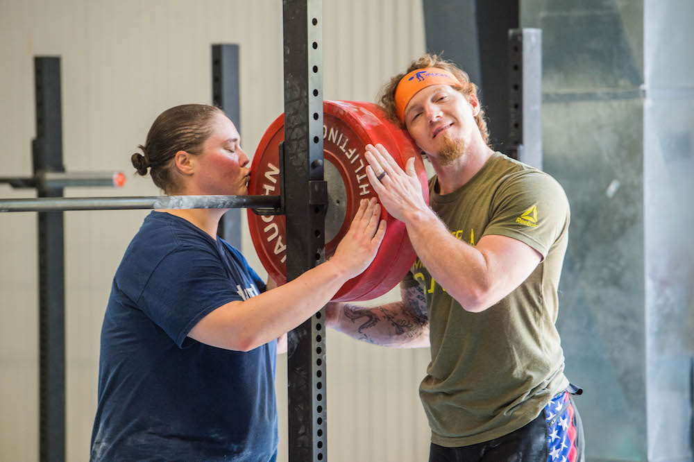 Chad and Cheryl Weightlifting