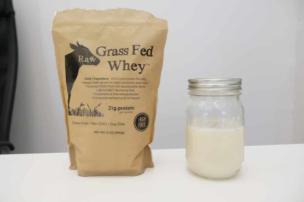 An image of Raw Grass Fed Whey Protein mixed