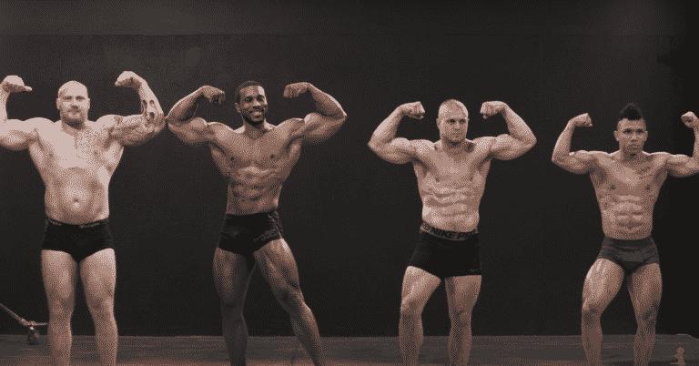 bodybuilder crossfitter powerlifter weightlifter posing