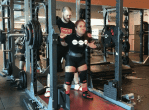 Maria Htee Squats 170kg for Doubles.