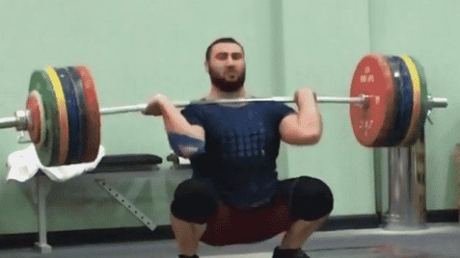 Simon MartirosyanHang Clean and Jerks 230kg.