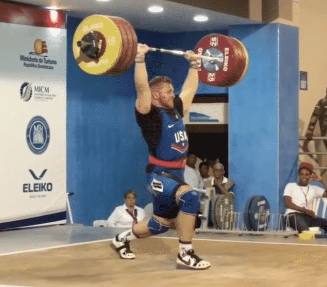Wes Kitts 212kg clean and jerk