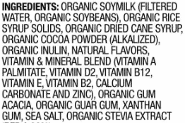 Ingredients in a meal replacement