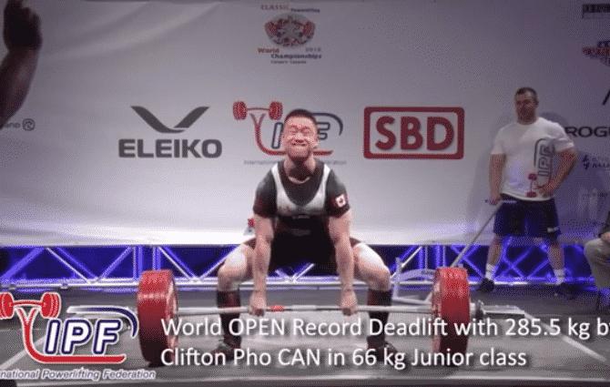 Clifton Pho 285.5kg deadlift