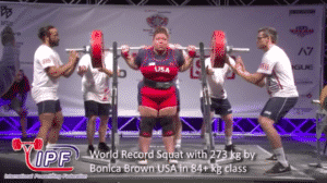 A powerlifter named Bonica Brown