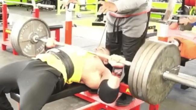 Larry Wheels AMRAP 405 lb Bench Press