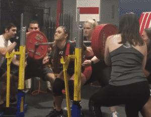 Amanda Lawrence Hits An Unofficial World Record 225kg Squat