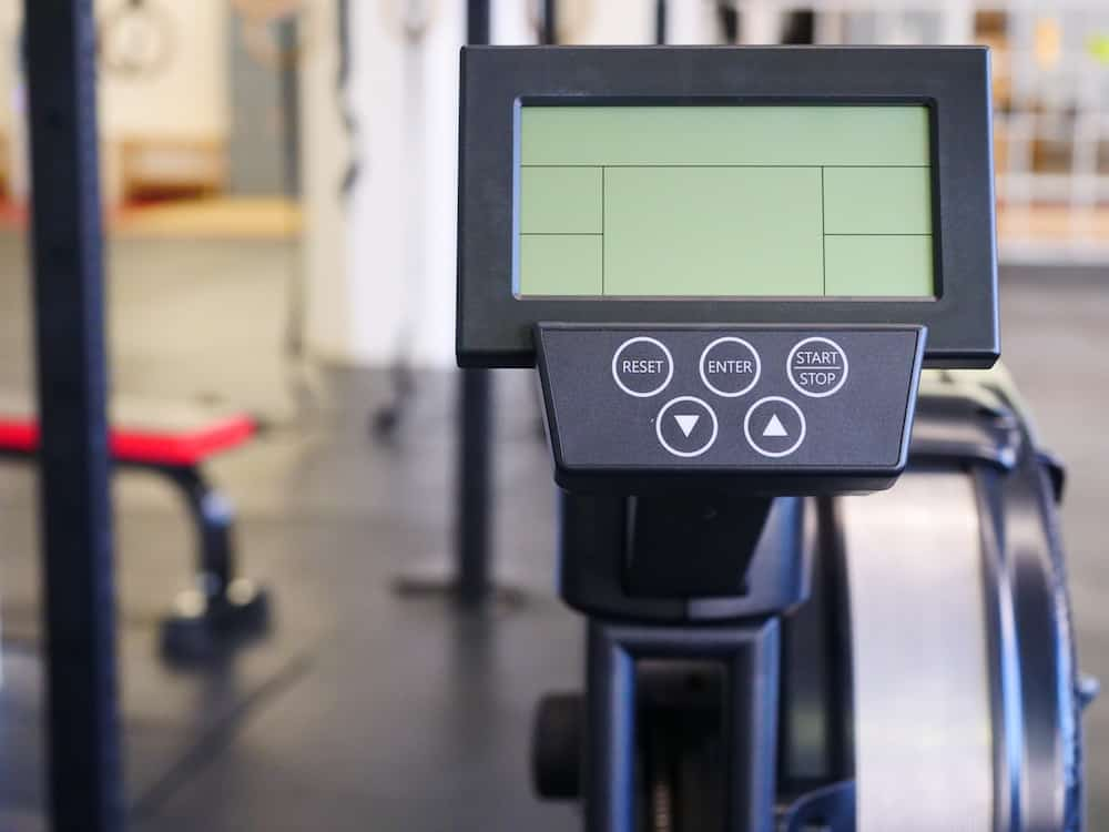 Monitor on an indoor rower