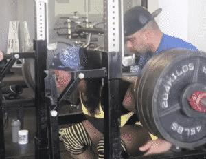 Chakera Holcomb Squat 500 lbs for Three
