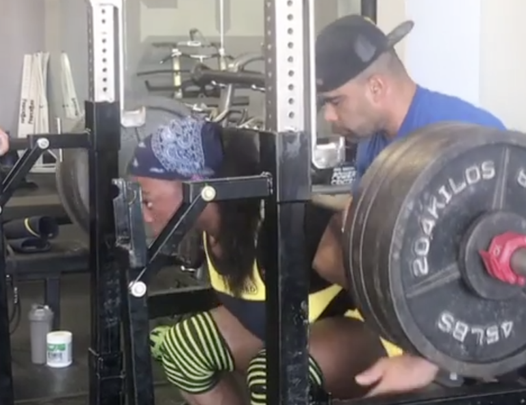 Chakera Holcomb Squat 500 lbs for Three