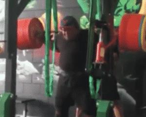 Jezza Uepa Squats 450kg Wrapped for a Double