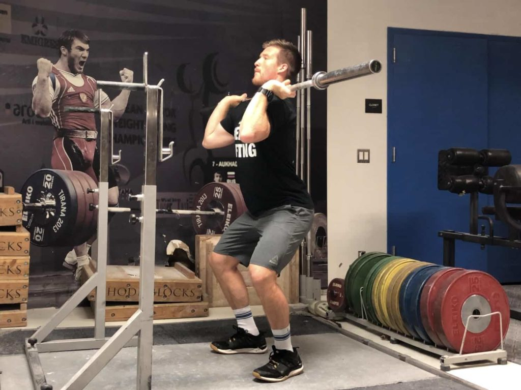 Squat Jerk Dip Phase